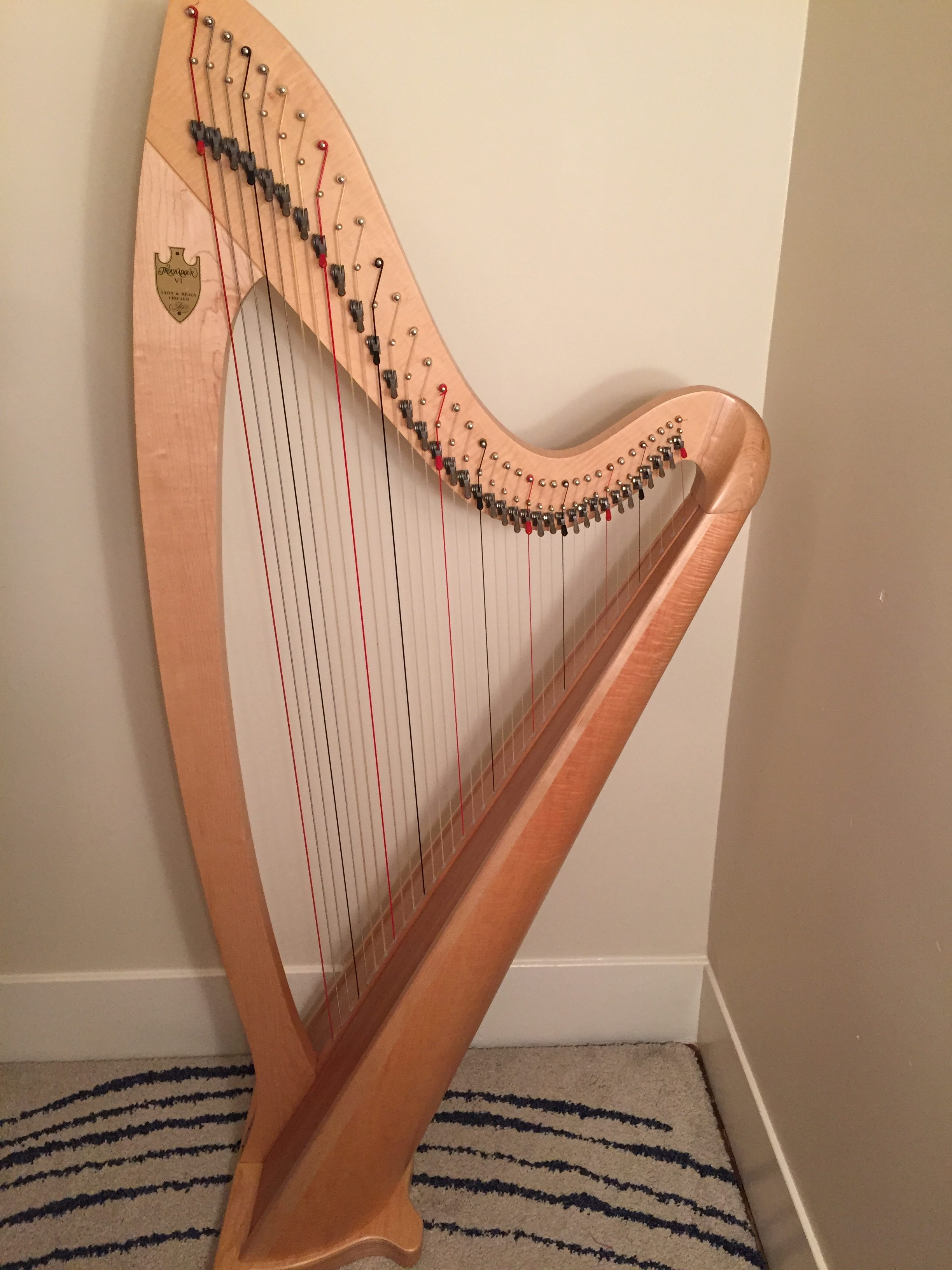Lyon and Healy Troubadour VI Lever Harp