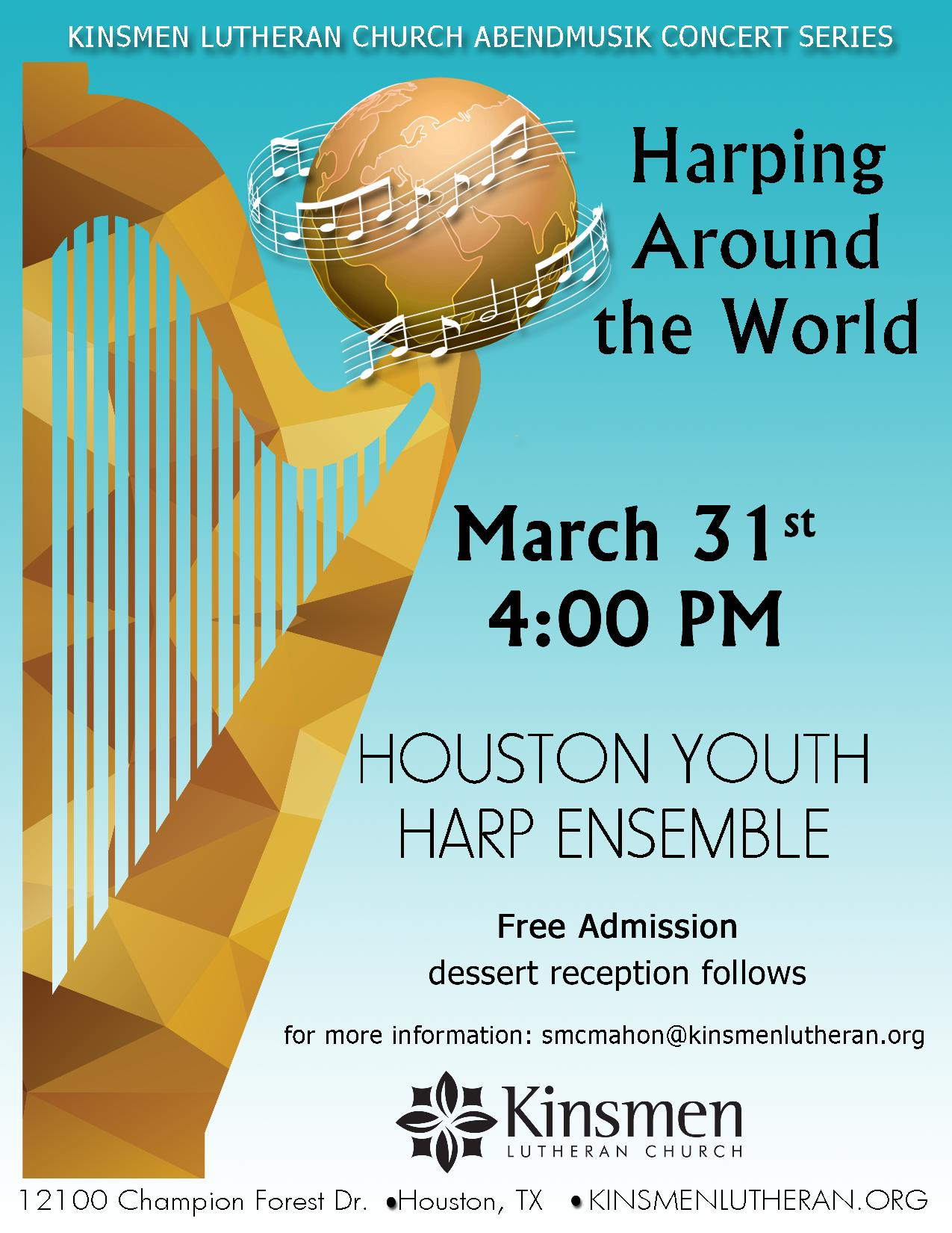 Houston Youth Harp Ensemble: Harping Around the World