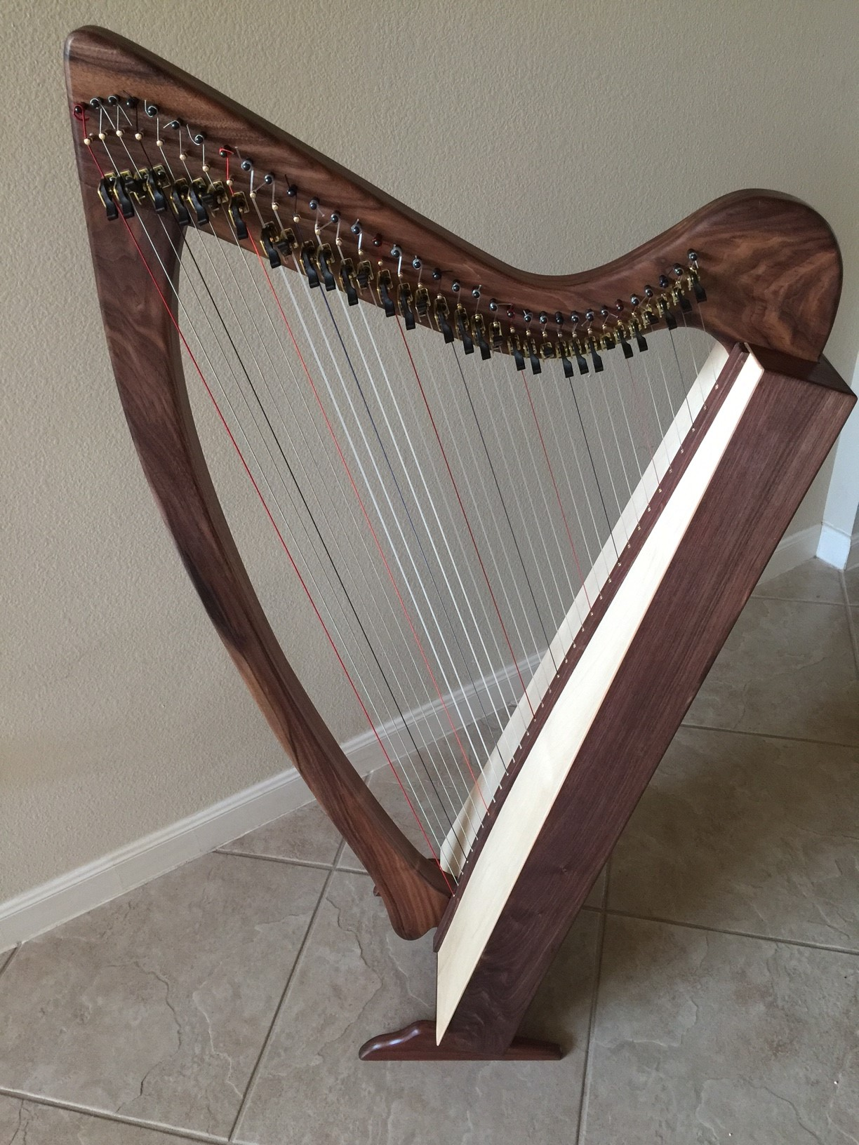 New Cambria 34 string lever harp