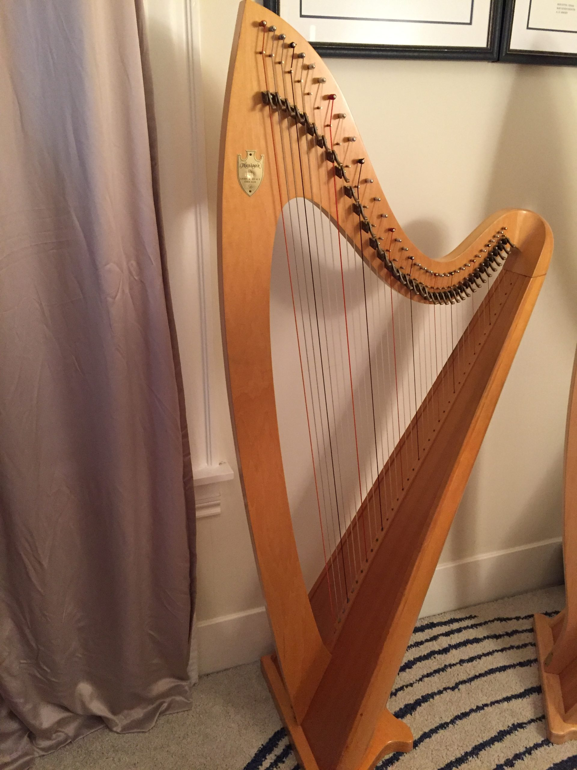 Lyon and Healy Troubadour Lever Harp for Rent